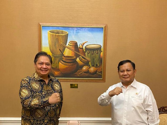 Prabowo Subianto dan Airlangga Hartarto (Dok. Istimewa)