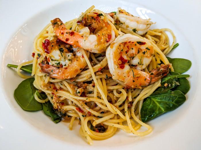 Spaghetti Aglio Olio Udang