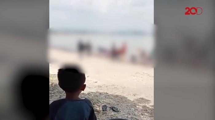Video viral perpeloncoan mahasiswa UHO di Pantai Nambo Kendari, Sultra (Screenshot video viral)