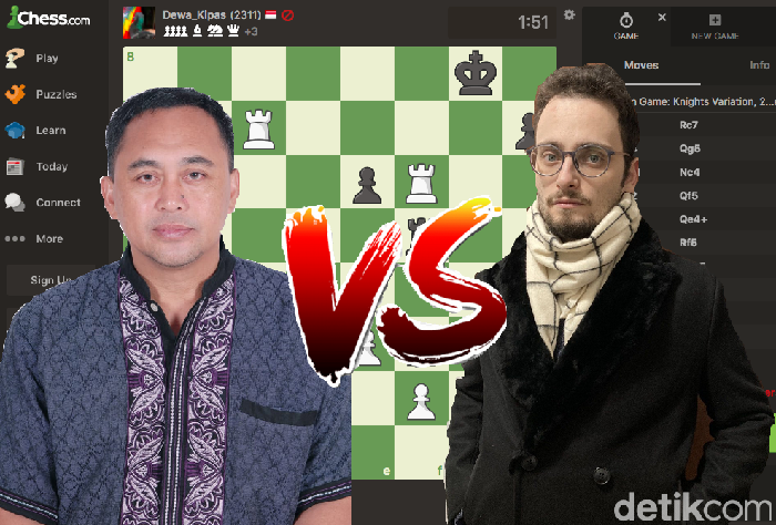 Dadang Subur Alias Dewa_Kipas Jago Catur Chess.com mengalahkan master catur GothamChess