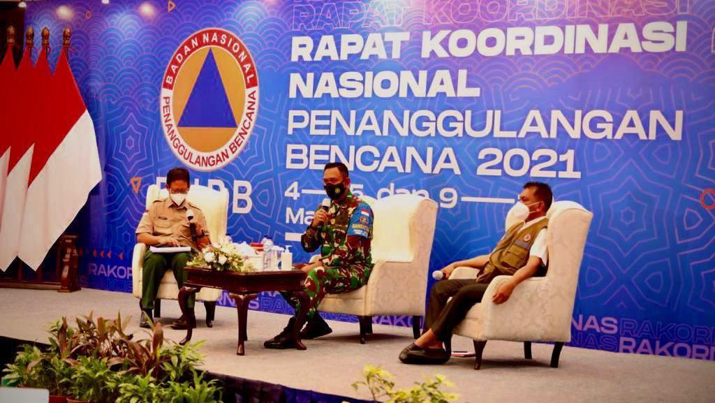 Rakornas BNPB, Danrem Wira Bakti Bagi Pengalaman Tangani Gempa Lombok