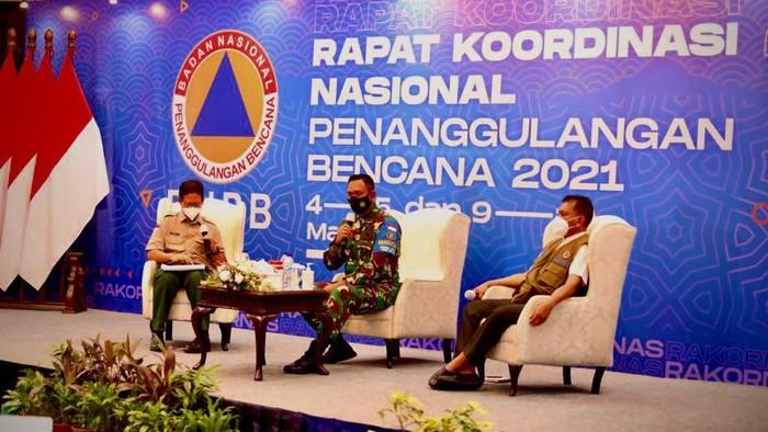 Danrem 162/Wira Bakti (WB), Brigjen TNI Ahmad Rizal Ramdhani memaparkan pengalaman penanganan pascagempa Lombok (dok. Istimewa).