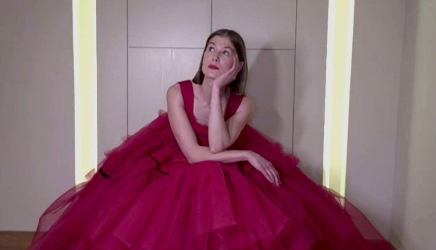 78th ANNUAL GOLDEN GLOBE AWARDS -- Pictured in this screen grab: Rosamund Pike, winner of Best Actress in a Motion Picture – Musical or Comedy for