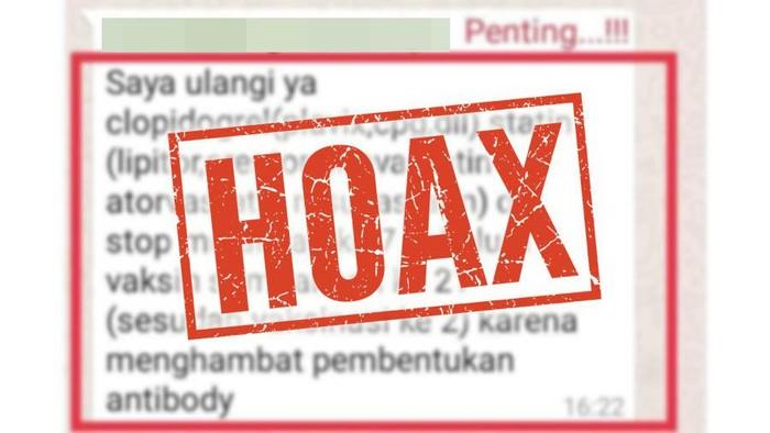 hoax yang menyebut pasien jantung harus berhenti minum obat sebelum vaksin corona
