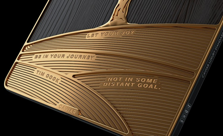 iPad Pro hasil modifikasi Caviar berhias emas 1 kg dan berlian.
