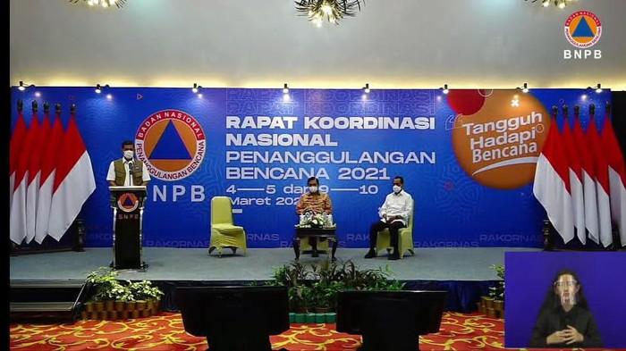 Kepala BNPB Doni Monardo di Rakornas Penanganan Bencana Tahun 2021 (Foto: Tangkapan layar YouTube BNPB)
