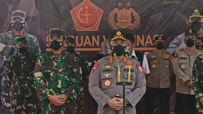 Panglima TNI dan Kapolri saat di Palembang (M Syahbana-detikcom)
