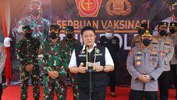 Gubernur HD Dampingi Panglima TNI & Kapolri Lihat Vaksinasi TNI/Polri