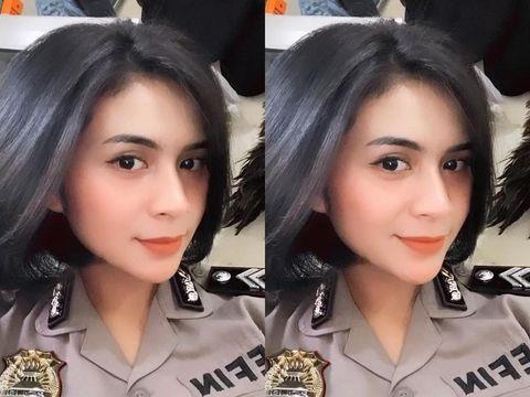 Polwan asal Grobogan, Jawa Tengah yang viral di media sosial