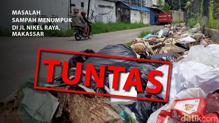 Tumpukan sampah di Jalan Nikel Raya, Makassar tuntas (dok. detikcom).