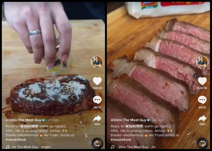 Viral Kreasi Steak Bumbu Indomie, Dibikin Pakai Daging Wagyu Super Juicy!