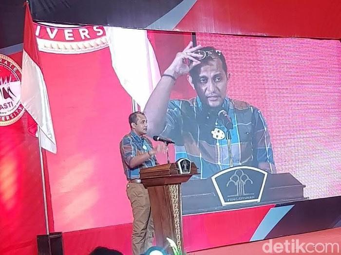 Wakil Menteri Hukum dan Hak Asasi Manusia (Wamenkum HAM) Edward Omar Sharif Hiariej di Semarang, Kamis (4/3/2021).