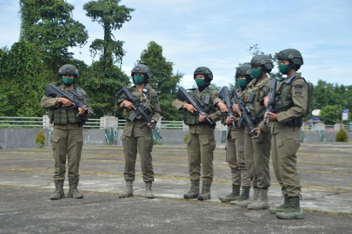 6 polwan Brimob disertakan dalam Satgas Nemangkawi yang bertugas di Papua (dok Polri)