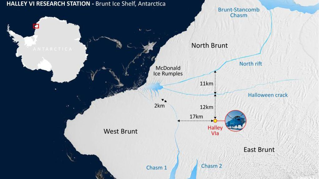 Detik-detik Gunung Es Antartika Seukuran 2 Kali Jakarta Terbelah