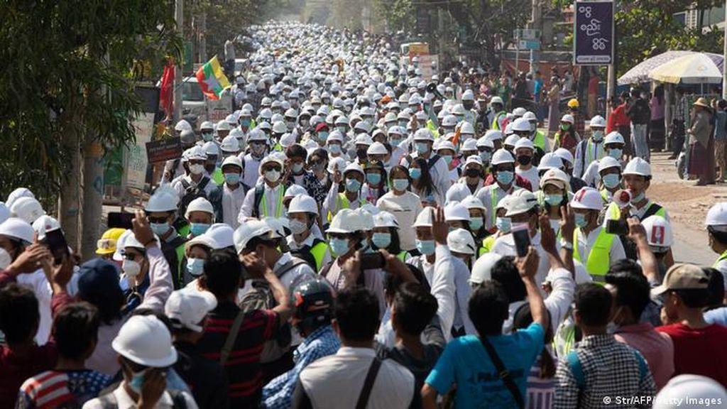 Pembangkangan Korps Diplomatik Iringi Gelombang Protes di Myanmar