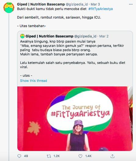 Ikuti Diet Tya Ariestya, Netizen Alami Sulit BAB sampai Dirawat di RS