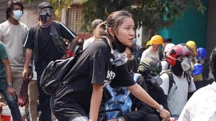 Kyal Sin, gadis yang ditembak mati saat ikut aksi protes anti-kudeta di Myanmar.