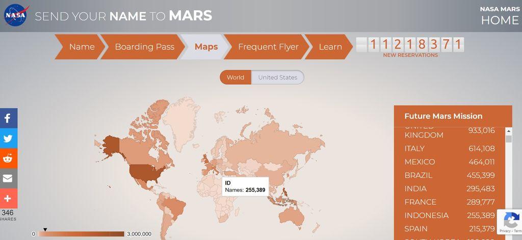 NASA kembali membagikan 'tiket gratis' lagi kepada warga Bumi yang ingin ke Mars.