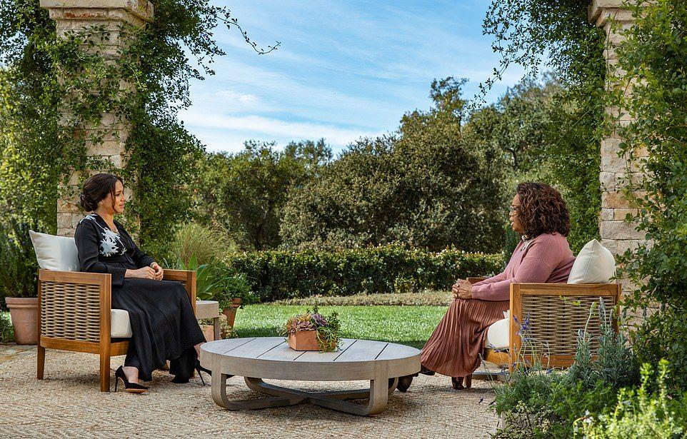 Pangeran Harry dan Meghan Markle di Oprah