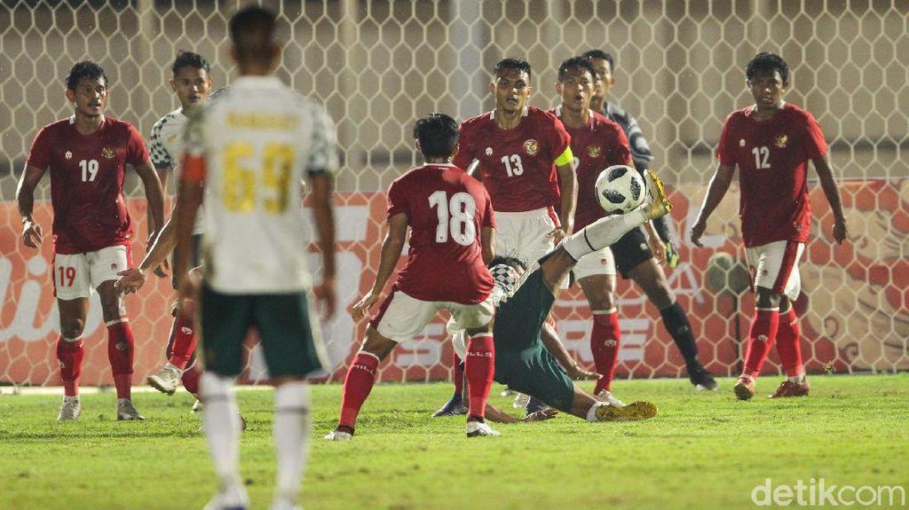 Timnas U-23 Libas Persikabo Dua Gol Tanpa Balas