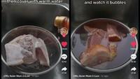 Tips Masak dari Emak-emak Asia, Melumerkan Daging Beku dalam 5 Menit