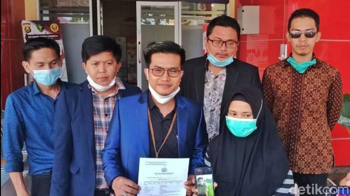 Wanita di Palembang melaporkan kekasihnya ke Polda Sumsel (Prima/detikcom)