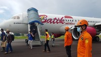 Pesawat Batik Air yang Mendarat Darurat di Jambi Berhasil Dipindahkan