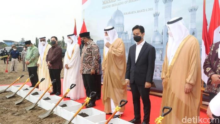 Groundbreaking Masjid Raya Sheikh Zayed di Solo, Sabtu (6/3/2021)