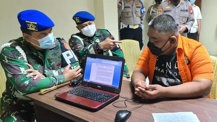 Pomdam Jaya turut mengawal penyelidikan kasus penembakan Bripka CS yang tewaskan Sertu MRK Sinurat di RM Cafe Cengkareng. Foto dikirim oleh narasumber.