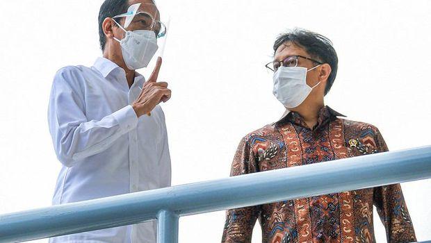 Presiden Joko Widodo dan Menkes Budi Gunadi Sadikin