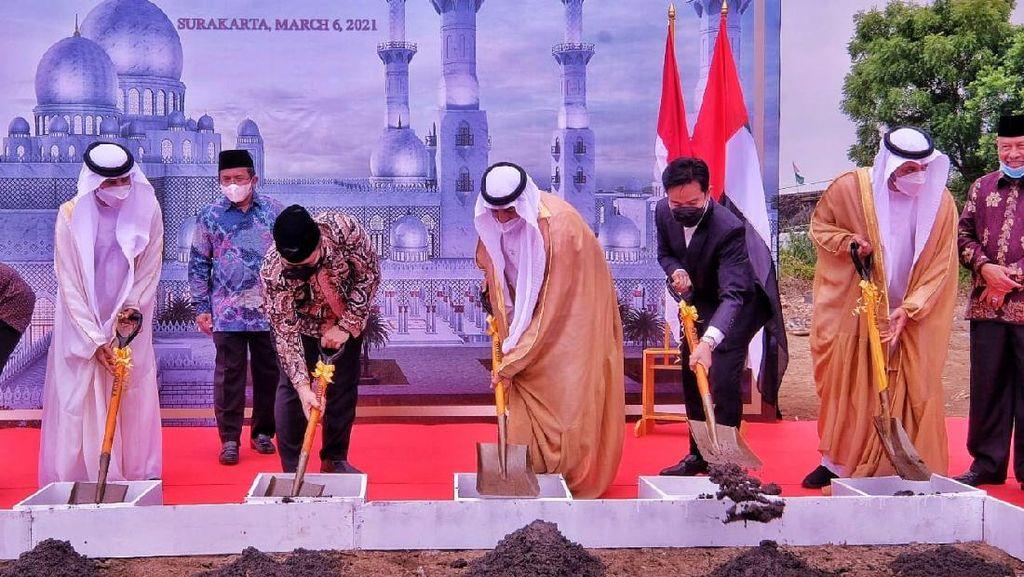 Masjid Pemberian Pangeran UEA untuk Jokowi Mulai Dibangun di Solo