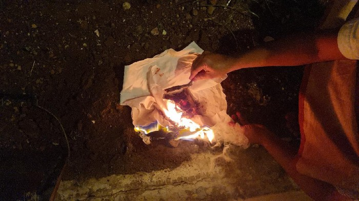 jenglot dari gabus di kudus akhirnya dibakar