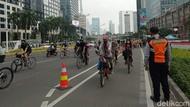 Minggu Pagi Banyak Pesepeda Masuk Jalur Umum di Sudirman, Ini Alasannya