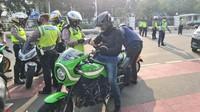 278 Motor Terjaring Razia Knalpot Bising di Monas