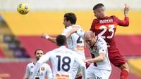Roma Vs Genoa: Gol Mancini Menangkan Serigala Ibu Kota