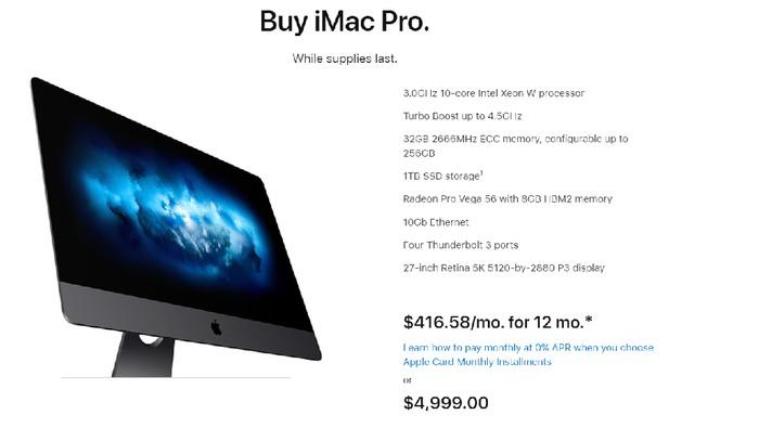 Apple iMac Pro berhenti diproduksi