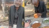 Kakek 98 Tahun Ini Masih Semangat Jualan Salad Kacang di Pinggir Jalan