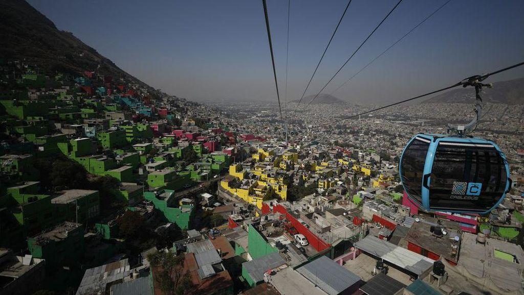Kereta Gantung di Meksiko Jadi Angkutan Umum
