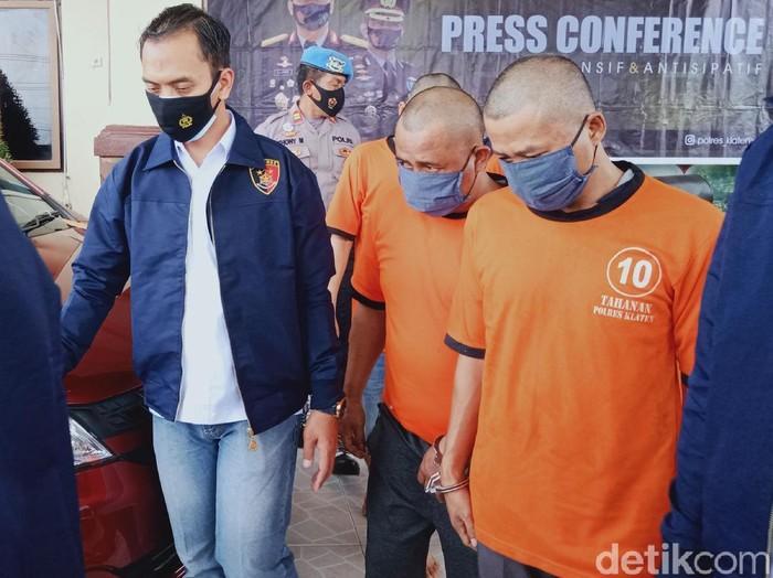Komplotan pembobol mesin ATM lintas provinsi ditangkap di Klaten, Senin (8/3/2021).