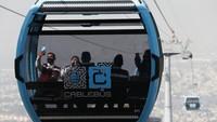 Foto Cablebus Kereta Gantung Cantik untuk Warga Miskin di Meksiko