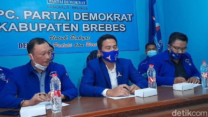 Pengurus DPC Demokrat Brebes menyatakan siap mundur massal jika hasil KLB di Deli Serdang diketok pemerintah, Senin (8/3/2021)