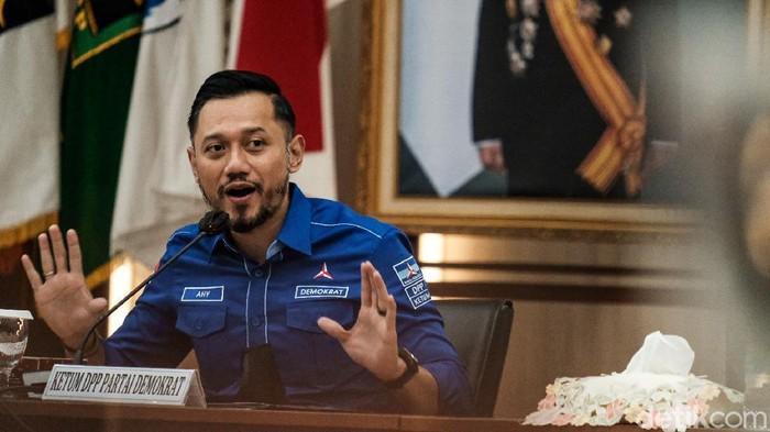 Potret AHY Sambangi KPU Tegaskan KLB Deli Serdang Abal-abal