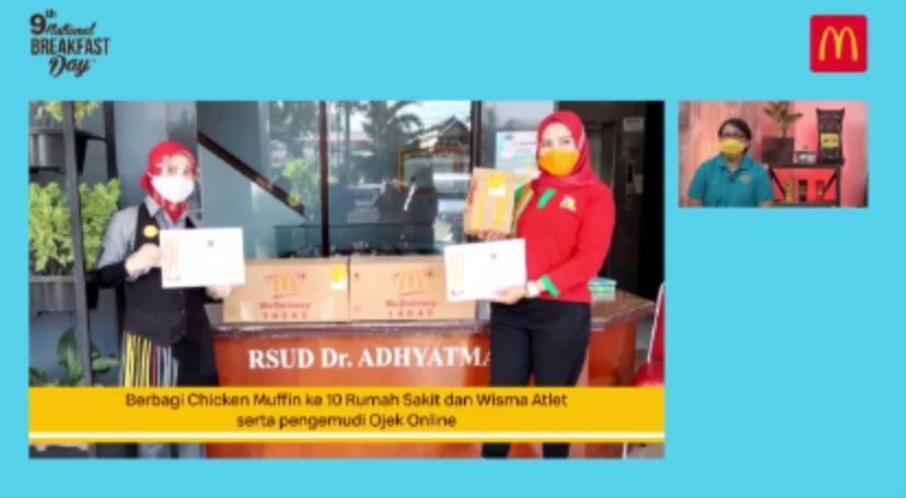 Tenaga Kesehatan dan Driver Ojol Ikut Rayakan 'National Breakfast Day'