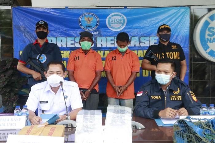 Bea Cukai Tarakan dan BNNP Kaltara menggagalkan upaya penyelundupan sabu dari Tawau Malaysia (dok Istimewa)