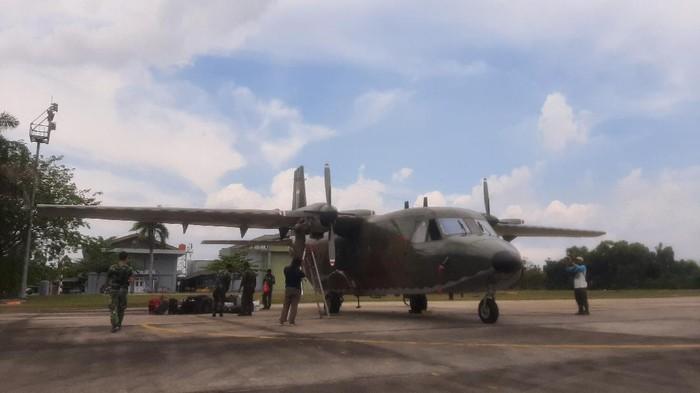 Cegah Karhutla, BNPB Kirim Pesawat untuk Modifikasi Cuaca di Riau (Foto: Raja Adil/detikcom)