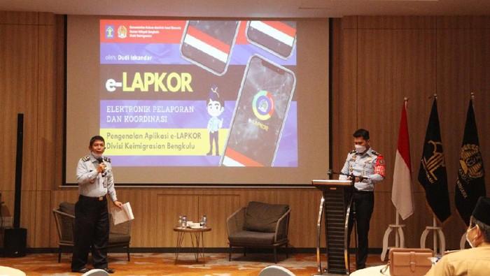 Imigrasi Bengkulu rilis e-LAPKOR (Foto: dok.Kanwil Kemenkumham Bengkulu melalui Divisi Keimigrasian