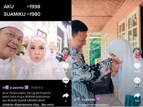 Kisah cinta murid dan guru viral di media sosial. Enjelin Lensenia dan Agung Nurpatria