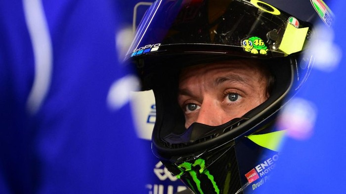 Monster Energy Yamahas Italian rider Valentino Rossi during the second MotoGP free practice session of the Moto Grand Prix de Catalunya at the Circuit de Catalunya on September 25, 2020 in Montmelo on the outskirts of Barcelona. (Photo by LLUIS GENE / AFP)