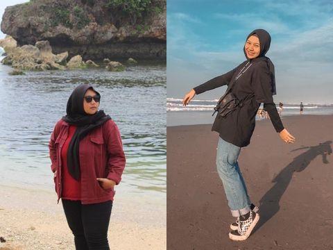 Kisah wanita yang sukses menurunkan berat badannya.