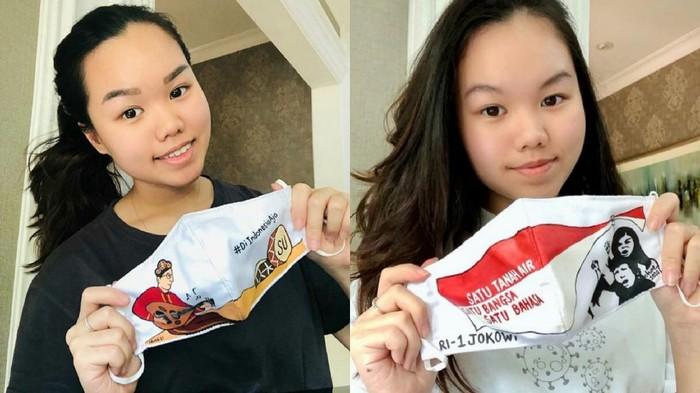 Charlene Junus, wanita yang membuat masker khusus Presiden Jokowi.